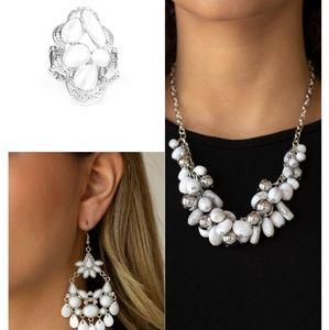 White jewelry set